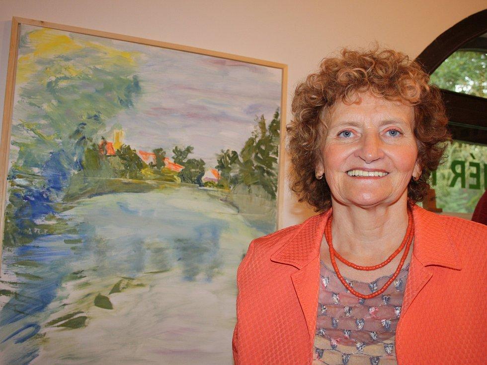 Dagmar Hartmannová si plní malováním svůj celoživotní sen.