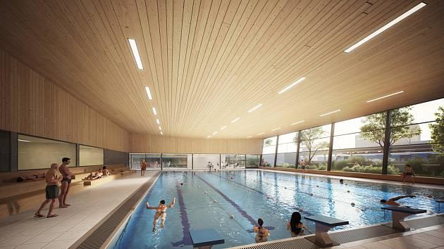 Pohled do hlavní bazénové haly.