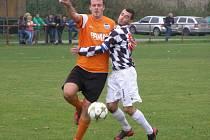 Z okresního fotbalového derby I.B třídy Libice - Sadská (2:0)