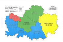 Aktuální mapka nezaměstnanosti na Nymbursku.