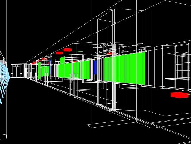 Výstavní program na rok 2018 i doprovodní programy pro letošní rok představila Galerie Středočeského kraje v Kutné Hoře – GASK. Na snímku Daniel Hanzlík, Pavel Mrkus vizualizace projektu Vidět čas.