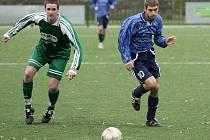 Z fotbalového utkání I.A třídy Kouřim - Rožďalovice (2:1)