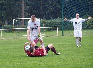 Z fotbalového utkání I.A třídy Bohemia Poděbrady - Kosmonosy (4:1)