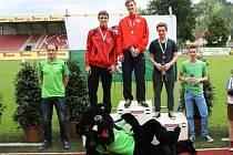NEJLEPŠÍ. Na nejvyšší stupně mohli vystoupat atleti SKP Nymburk. Vyhrál Lukáš Hodboď, druhý byl Vít Müller