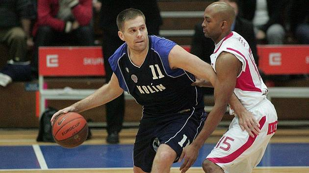 Z basketbalového utkání Mattoni NBL Nymburk - Kolín.