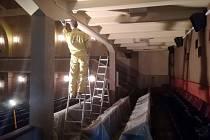 Dočasné uzavření využili v nymburském kině Sokol k potřebným opravám.