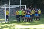 Z fotbalového utkání I.B třídy Slovan Poděbrady - Pátek (1:0)