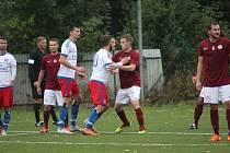 Z fotbalového utkání krajského přeboru Bohemia Poděbrady - Lhota (3:1)
