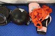 Na box tolik výbavu zase nepotřebujete, když chcete začít. Sportovní oblečení, rukavice, bandáže, chránič na zuby.
