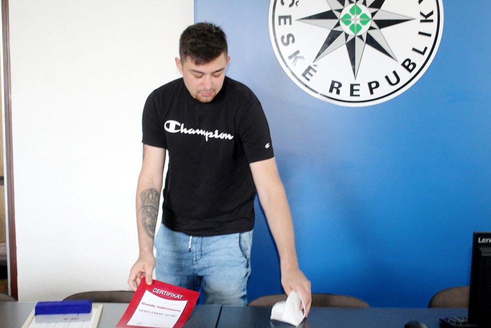David Soběslav s oceněním.