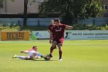 Z přípravného fotbalového utkání Bohemia Poděbrady - Kutná Hora (1:3)