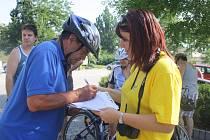 Cyklojízda z Poděbrad do Štětí měla zastávku v Nymburce