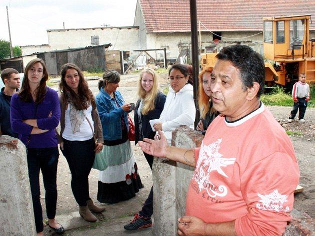 Skupina amerických studentů v Nymburce  Třebestovicích