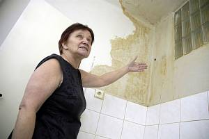 Mapy na stěnách kuchyně i koupelny ukazuje Eva Hrušková