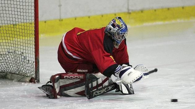 Z utkání krajské soutěže hokejistů Stadion Poděbrady - Kutná Hora B (0:1 sn)