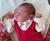 Elena Machalová, Lomnice u Rýmařova, narozena 8. ledna ve Šternberku, míra 48 cm, váha 3220 g