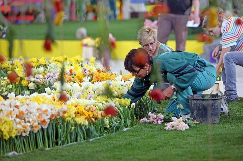 Finiš příprav na jarní etapu výstavy Flora Olomouc 2014