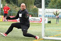 Jaroslav Běhalík v brance mužstva Olomouce v Superlize malého fotbalu