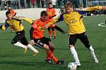 Fotbalisté Sigmy Olomouc (v oranžovém) porazili v přípravě Dunajskou Stredu 6:0.