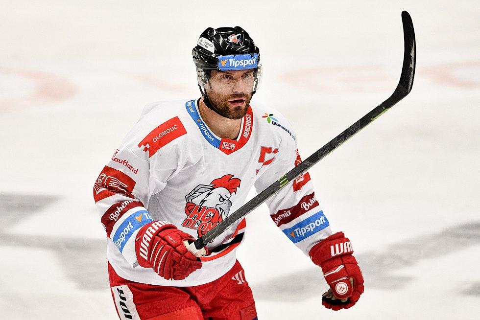 Utkání 38. kola hokejové extraligy: HC Vítkovice Ridera - HC Olomouc, 22. Ledna 2021 v Ostravě. Rostislav Olesz z Olomouce.