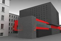 Vizualizace dostavby Pedagogické fakulty UP Olomouc