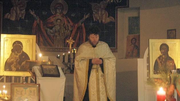 Vánoce v katedrálním chrámu svatého Gorazda.