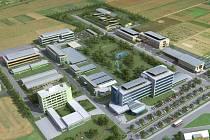 Vizualizace nových pracovišť UP v Holici, kde má fungovat Centrum regionu Haná pro biotechnologický výzkum