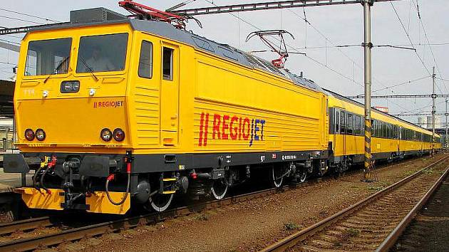 Vlak RegioJet, který bude jezdit na trase Praha - Olomouc - Ostrava