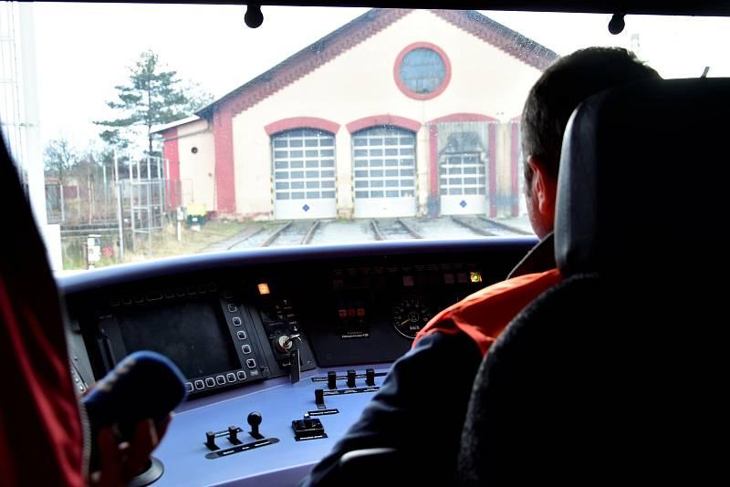 Vlaková jednotka Stadler Pankow Českých drah v Olomouci