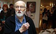 Jan Švankmajer na zahájení výstavy svých prací v olomouckém Muzeu umění