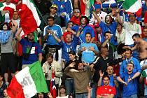 Italští tifosi. Zápasy italské jedenadvacítky uvidí i Olomouc. Ilustrační foto