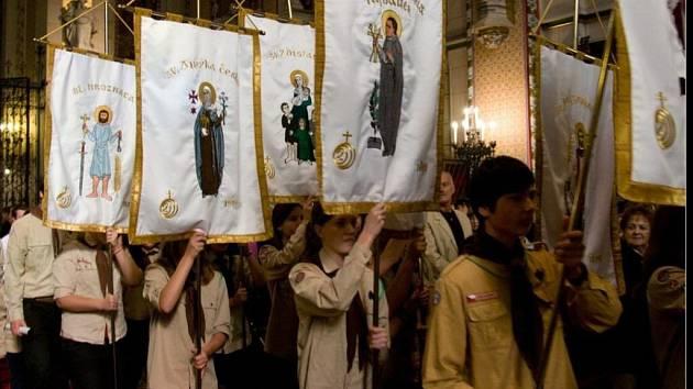 Slavnostní bohoslužba ke svátku sv. Václava v olomoucké katedrále