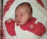 Štěpánka Kubíčková, Hnojice, narozena 5. září ve Šternberku, míra 50 cm, váha 3560 g