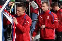 Trénink české reprezentace na Andrově stadionu