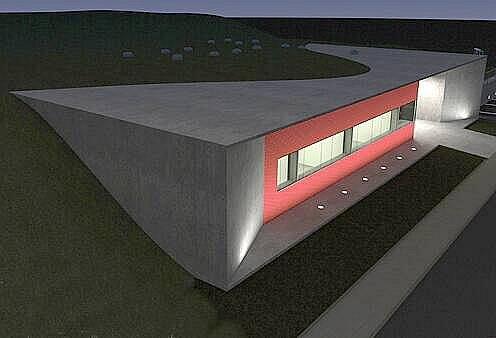 Vizualizace nové budovy pro pracoviště PET/CT v olomoucké fakultní nemocnici. Autor: Ateliér-r