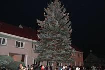 Rozsvícení vánočního stromu v Příkazích
