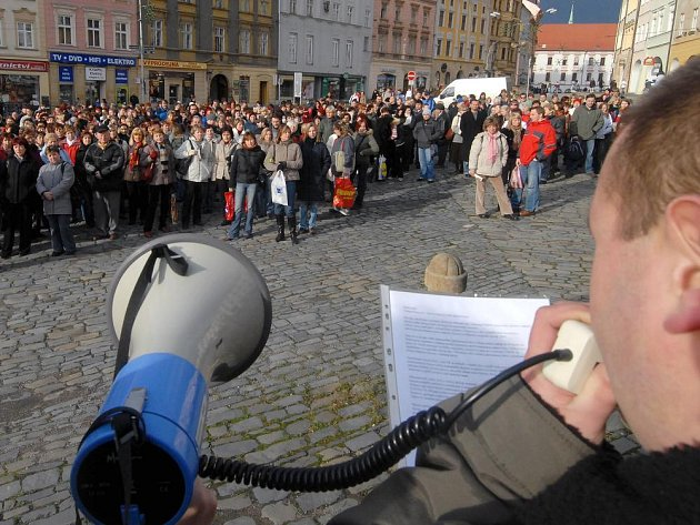 Stávkující učitelé