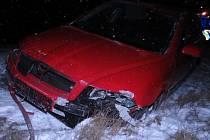 Nehoda osobního auta u Šternberka