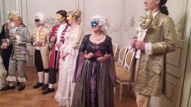 Prohlídka zámku v Náměšti v rámci upírského představení