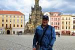 Honza Svozil na olomouckém Horním náměstí v září 2019