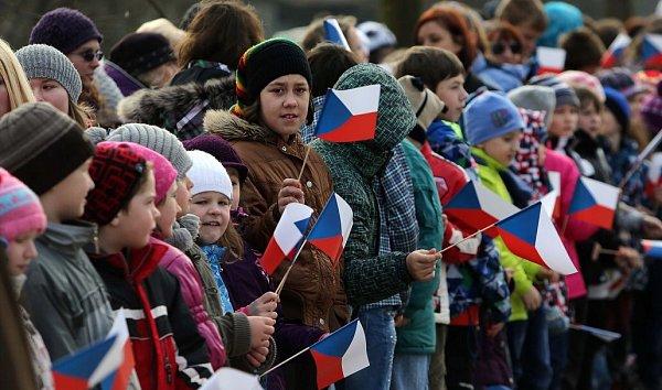 Prezident Zeman vHradčanech na Přerovsku