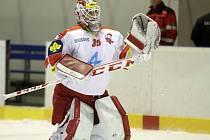 Gólman HC Olomouc Jiří Trvaj