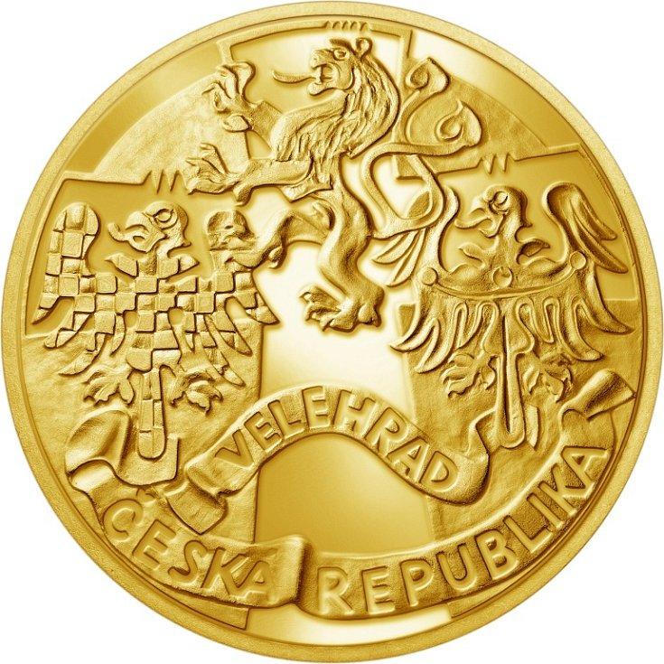 Zlatá pamětní medaile - líc