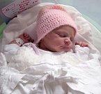 Lenka Šulová, Olomouc, narozena 14. dubna v Olomouci, míra 49 cm, váha 3080 g