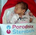 Anetka Wikky Šandorová, Moravský Beroun, narozena 23. dubna ve Šternberku, míra 46 cm, váha 2570 g