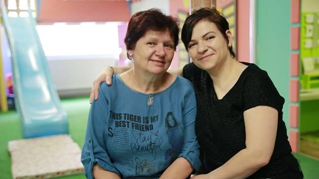 Věra Baťová Teocharisová s dcerou Marií Teocharisovou