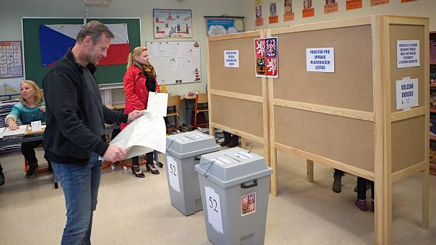 Komunální volby 2018 na ZŠ Slavonín