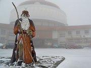 Říjnový sníh na Pradědu. Ilustrační foto