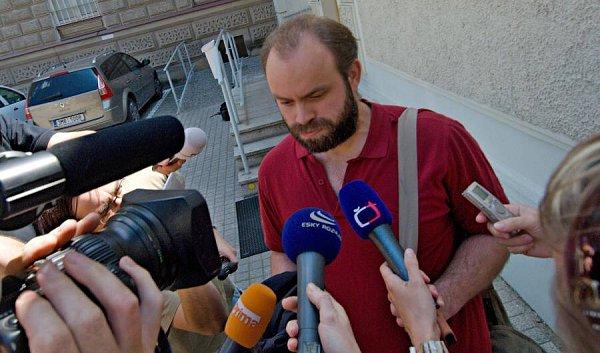 Roman Smetana po propuštění zolomoucké věznice