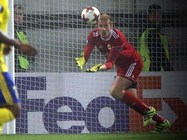 Zdeněk Zlámal v zápase Zlína s Kodaní na Andrově stadionu v Olomouci